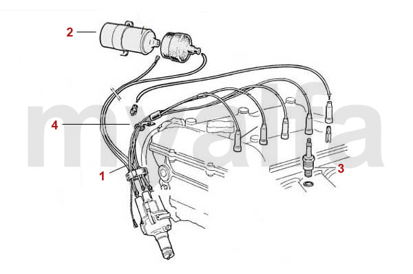 alfa romeo giulia leads  spark plugs