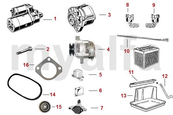 alfa romeo spider  105  115  starter  generator