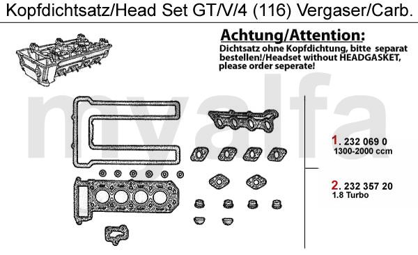 HEAD GASKET SET GTV/4