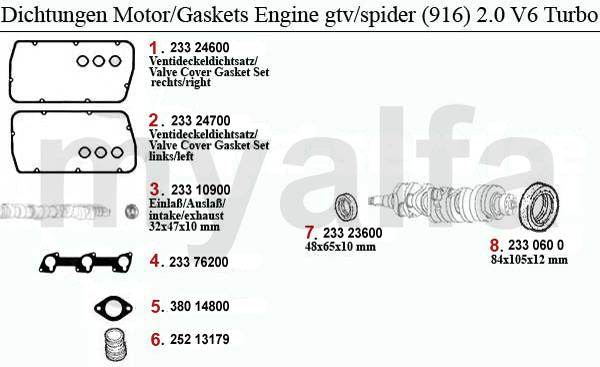 alfa romeo gtv  spider  916  engine  engine parts  u0026 alfa