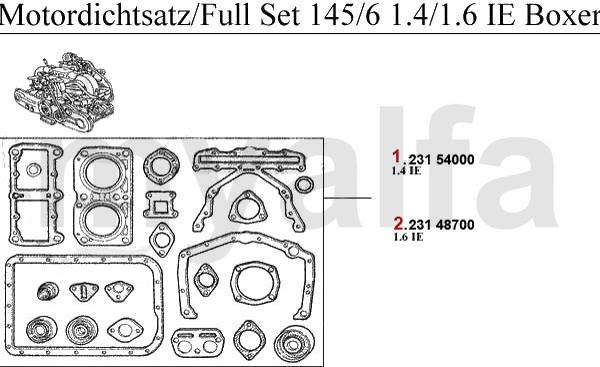 Motordichsatz  1.4/1.6