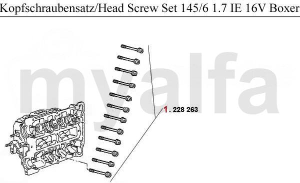 HAEDSCREWSET 1.7 IE 16V