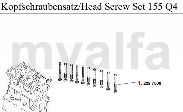 HEADSCREW SET