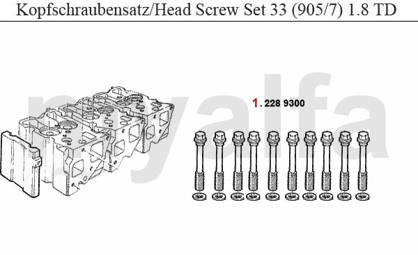 HEAD SCREW SET