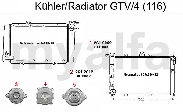 RADIATOR GTV/4