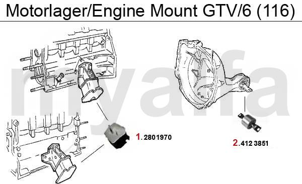 ENGINE MOUNT GTV/6