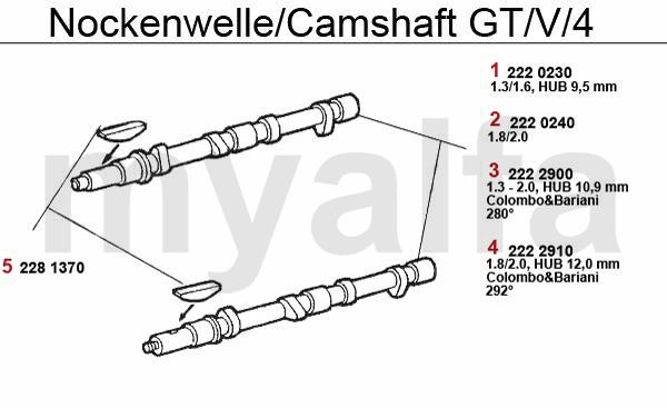 CAMSHAFT GT/V/4