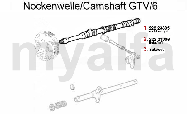 Nockenwelle GTV/6