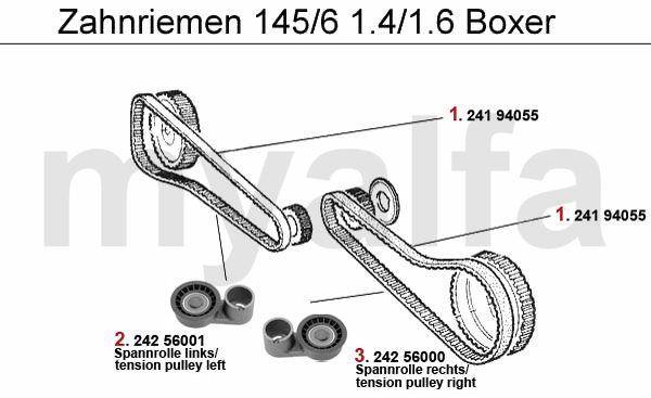 alfa romeo 145  6 valve gear 1 4  1 6 boxer 1994