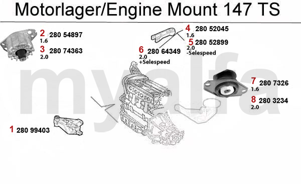 alfa romeo 147 engine  engine parts  u0026 alfa romeo piston mount ts 16v