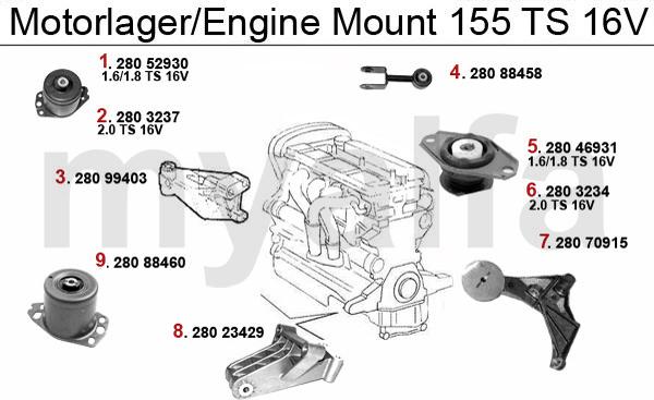 alfa romeo 155 enginemount ts16v