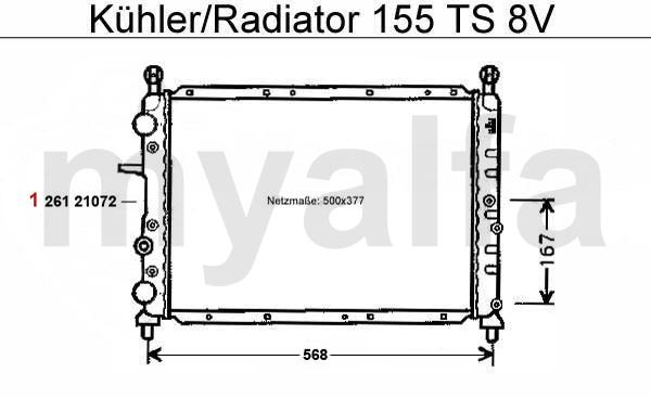 alfa romeo 155 water pump  thermostat  radiator  u0026 radiator hose ts 8v radiator