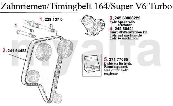 alfa romeo 164  super valve gear 2 0 v6 turbo timing belt