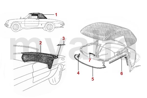 alfa romeo spider 105 115 verdecke verdeck persenning. Black Bedroom Furniture Sets. Home Design Ideas