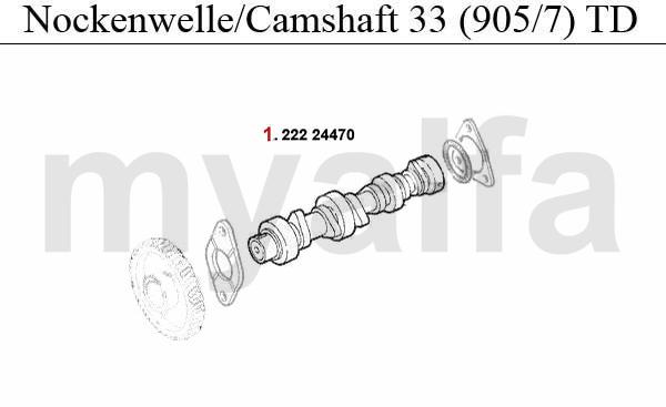 CAMSHAFT (905/7) 1.8 TD