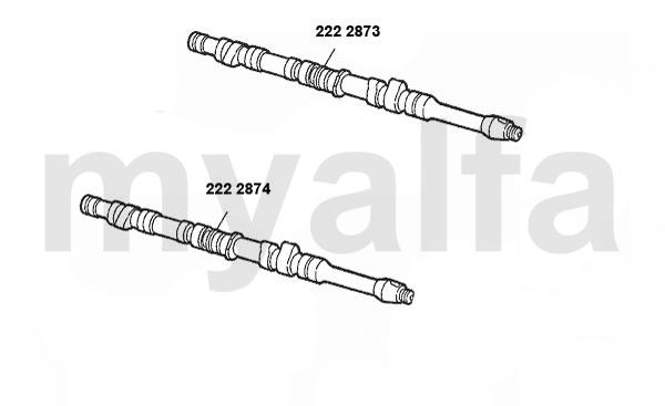 alfa romeo gtv  spider  916  valve gear 2 0 v6 turbo camshaft