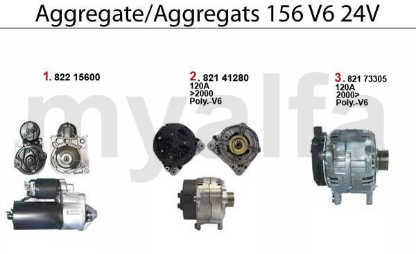 STARTER/ALTERNATOR V6 24V