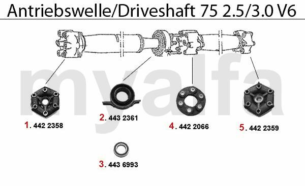 alfa romeo 75 drive shaft 2 5 3 0 v6 rh my alfa com Alfa Romeo Stelvio Alfa Romeo SUV