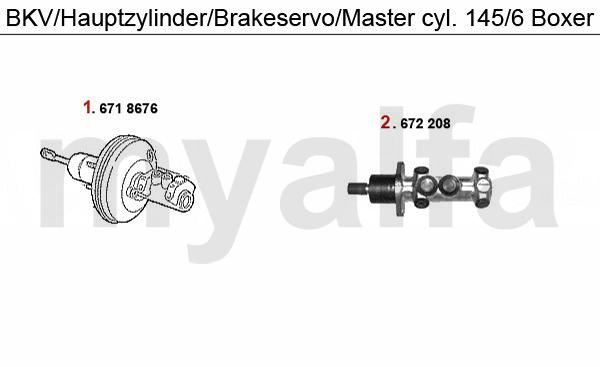 BRAKE SERVO/BRAKE MASTER CYL. BOXER
