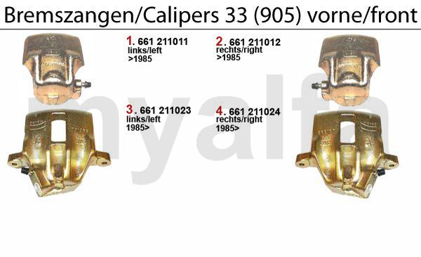 CALIPER 905 FRONT