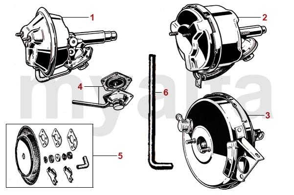 alfa romeo gt bertone brake hydraulic brake booster