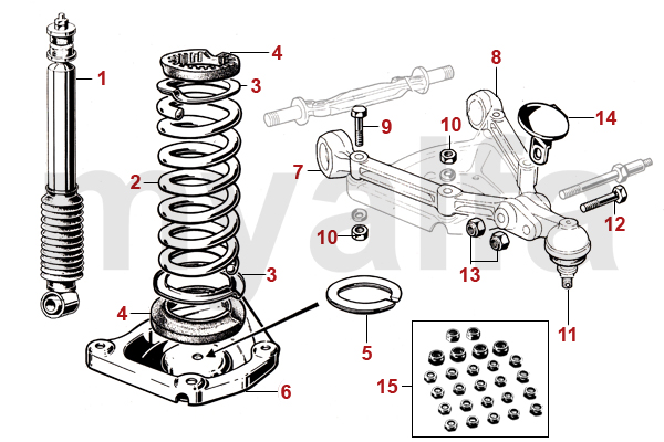 alfa romeo spider  105  115  front springs  shocks