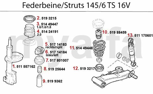 STRUT TS 16V