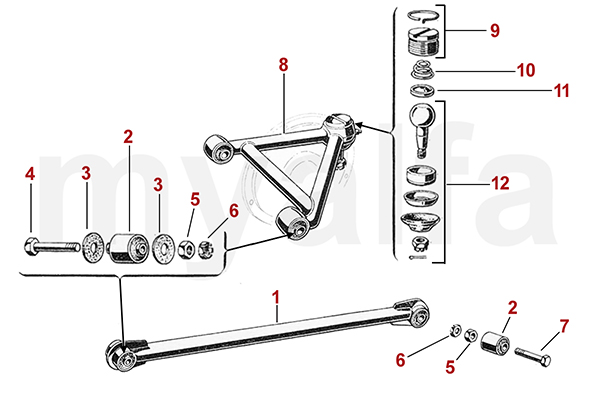 T-BAR, TRAILING ARMS