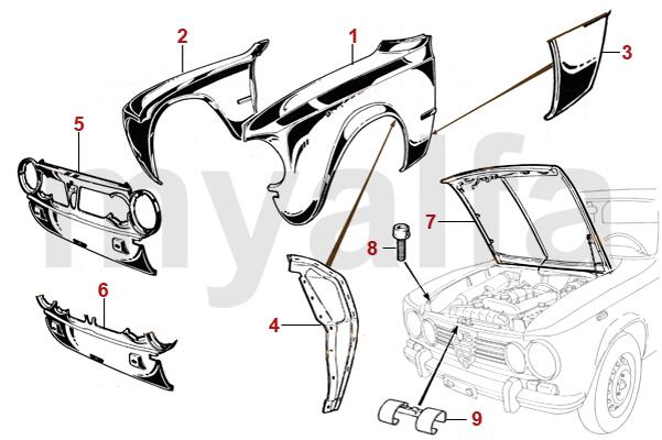 Alfa Romeo GIULIA BODY PANELS FRONT - Alfa romeo body panels