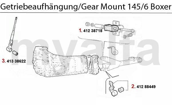 GEAR MOUNT 1.4/1.6/1.7/IE/16V Boxer