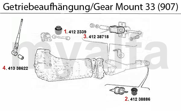 GEAR MOUNT (907) not 4x4