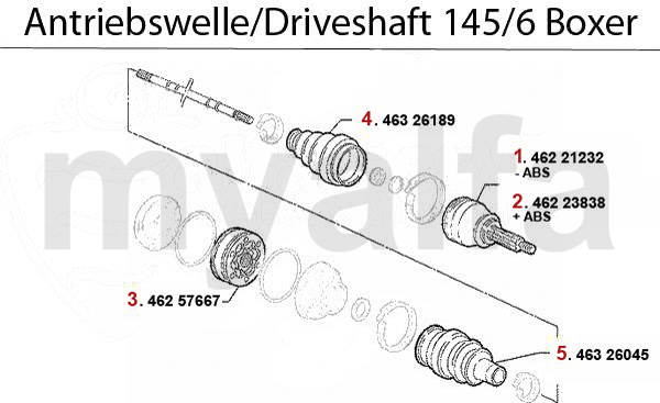 DRIVESHAFT 1.4/1.6/1.7/IE/16V Boxer >199