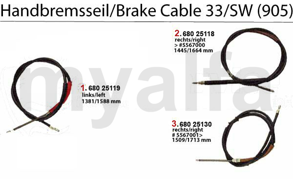 BRAKE CABLE (905)