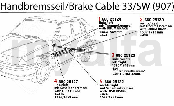 BRAKE CABLE (907)