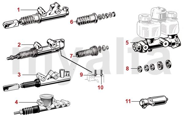 alfa romeo gt bertone brake hydraulic brake mastercylinder