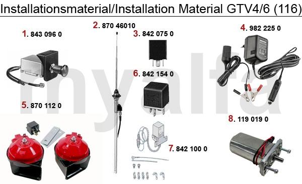 Installations Material