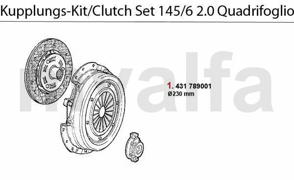 CLUTCH SET 2.0 TS 16V Quadrifoglio >1996