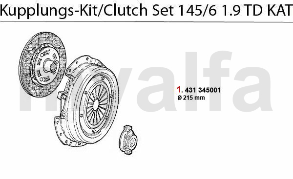 CLUTCH SET 1.9 TD CAT.