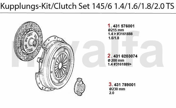 Kupplungs-Kit TS 16V Bj. 96>