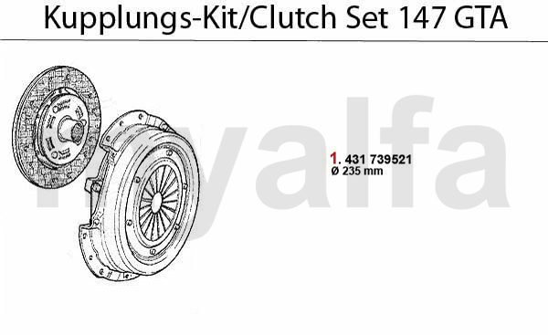 CLUTCH SET 3.2 V6 24V/GTA