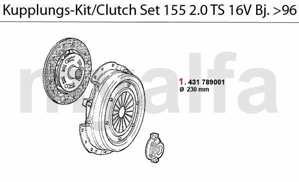 CLUTCH SET TS 16V >4.1996
