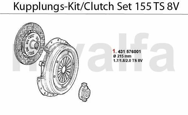 CLUTCH SET TS 8V