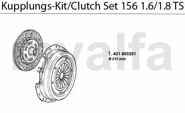 CLUTCH SET 1.6/1.8 TS 16V