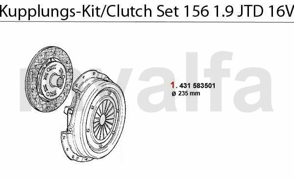 CLUTCH SET 1.9 JTD 16V
