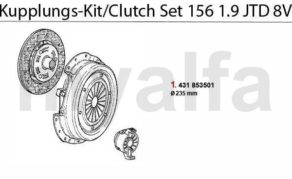 CLUTCH SET 1.9 JTD 8V
