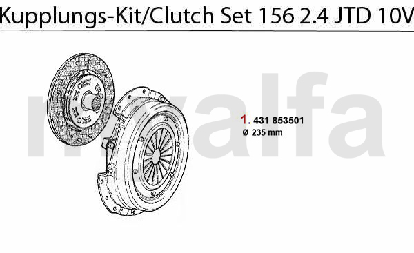 CLUTCH SET 2.4 JTD 10V