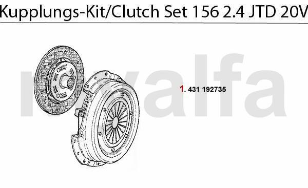CLUTCH SET 2.4 JTD 20V