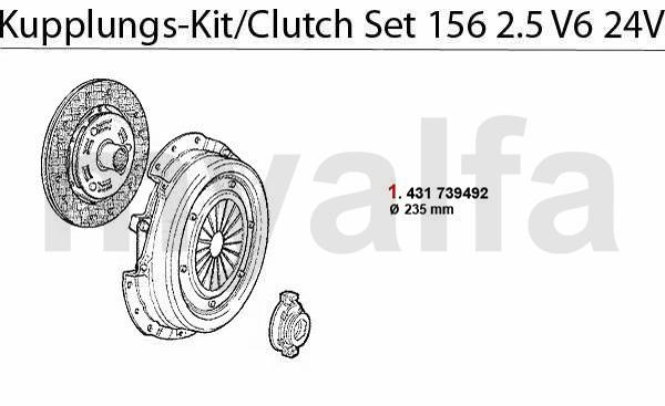 CLUTCH SET 2.5 V6 24V