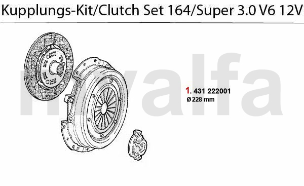 alfa romeo 164  super clutch 3 0 v6 12v clutch set