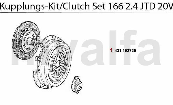 Kupplungs-kit 2.4 JTD 20V